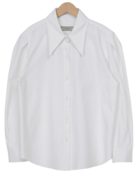 Sharp collar puff shirts