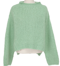 Fuzzy wool round knit_P (울 20%) (size : free)