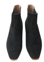 wooden suede chelsea boots (2colors)