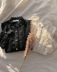 Shatin lace blouse