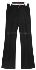MONEN WOOL SEMI BOOTS SLACKS