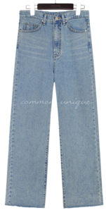 RITON CUTTING WIDE DENIM PANTS