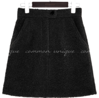 WOOL 45% DUMBLE SET-UP MINI SKIRT スカート