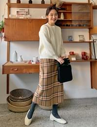 Caramel check wool skirt_A (울 10%) (size : S,M)