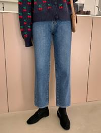 Washing denim warm pants_Y (size : S,M,L)