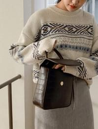 Daily Modern Square Leather Bag
