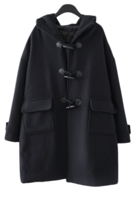 basic duffle half coat