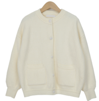 Dense button wool cardigan_A (size : free)