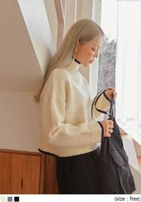 MORING COLORING HIGH NECK KNIT knitwears