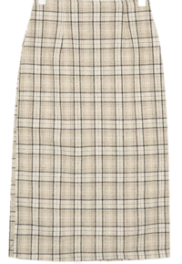 a line check long skirts