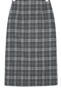 a line check long skirts (s, m)