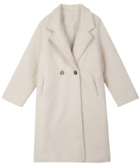 Fleece long coat