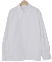 Balloon cotton collar shirts_Y (size : free)