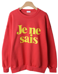 Jenny sei lettering napping sweat shirt
