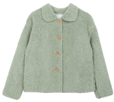 Fleece Button Short Jacket