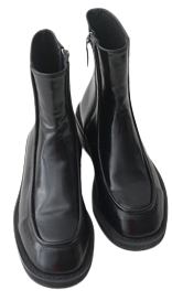glossy simple ankle boots