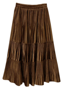 Cancan suede skirt