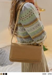 SAGE LEATHER SQUARE MINI BAG - 2 TYPE