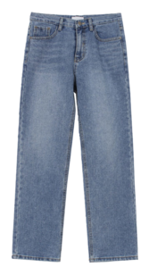 Washing straight denim pants (2colors)
