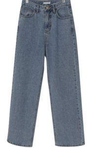 Wide long denim pants_J デニムパンツ