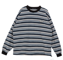 Fleece Stripe Sweat Shirt 長袖上衣