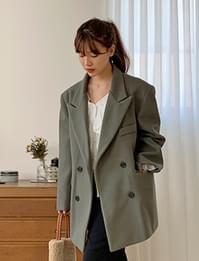Double wool half coat_A (size : free)