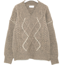 mond stitch line cable knit