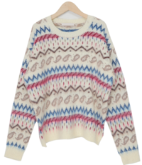 Slow wool round knit_P (size : free)