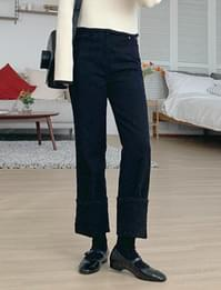 Warm slim straight pants_H (기모) (size : S,M,L)