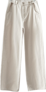 straight fluffy button pants pants