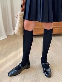 Simple golgi knee socks_H