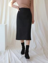 Classic H wool skirt _Y