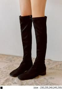 PONTA SUEDE SQUARE HIGH BOOTS