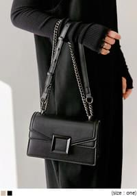 LAWTON CHAIN LEATHER SQUARE BAG