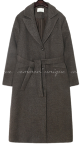 MELI WOOL BOKASHI STRAP LONG COAT