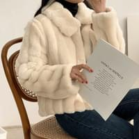 Rose soft fur jacket