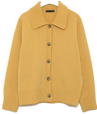 mellow collar button wool cardigan