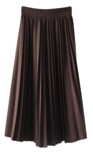 classic pleats banding skirt