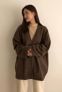 Unisex wool knit cardigan