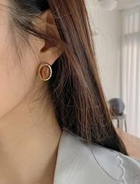 Gleam stone earring_Y (size : one)