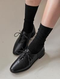 Sheep skin lace-up shoes_Y (size : 230,235,240,245,250)