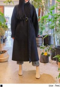 WOOL BELT CHINA COLLAR LONG COAT