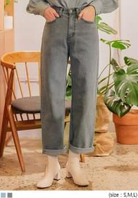 VOYDI ROLL UP WIDE DENIM PANTS デニムパンツ