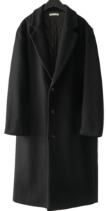 three button single coat coat