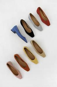 French suede color middle heel