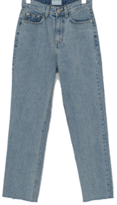 Cut Detail Slim Straight Fit Jeans-pt