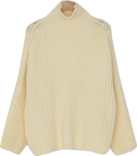 Alpaca High Neck Wool Knit-knit