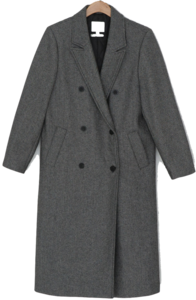 Pinstripe quilted wool coat-ct