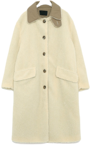 soleil wool fur long coat