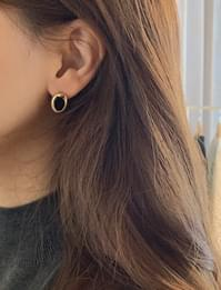 Bright stone earring_A